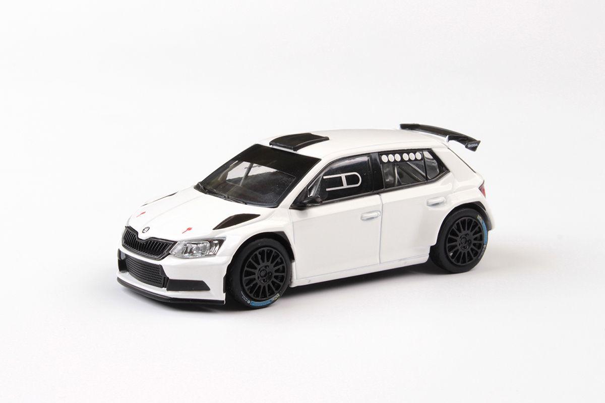 Škoda Fabia III R5 (2015) 1:43 - Bílá