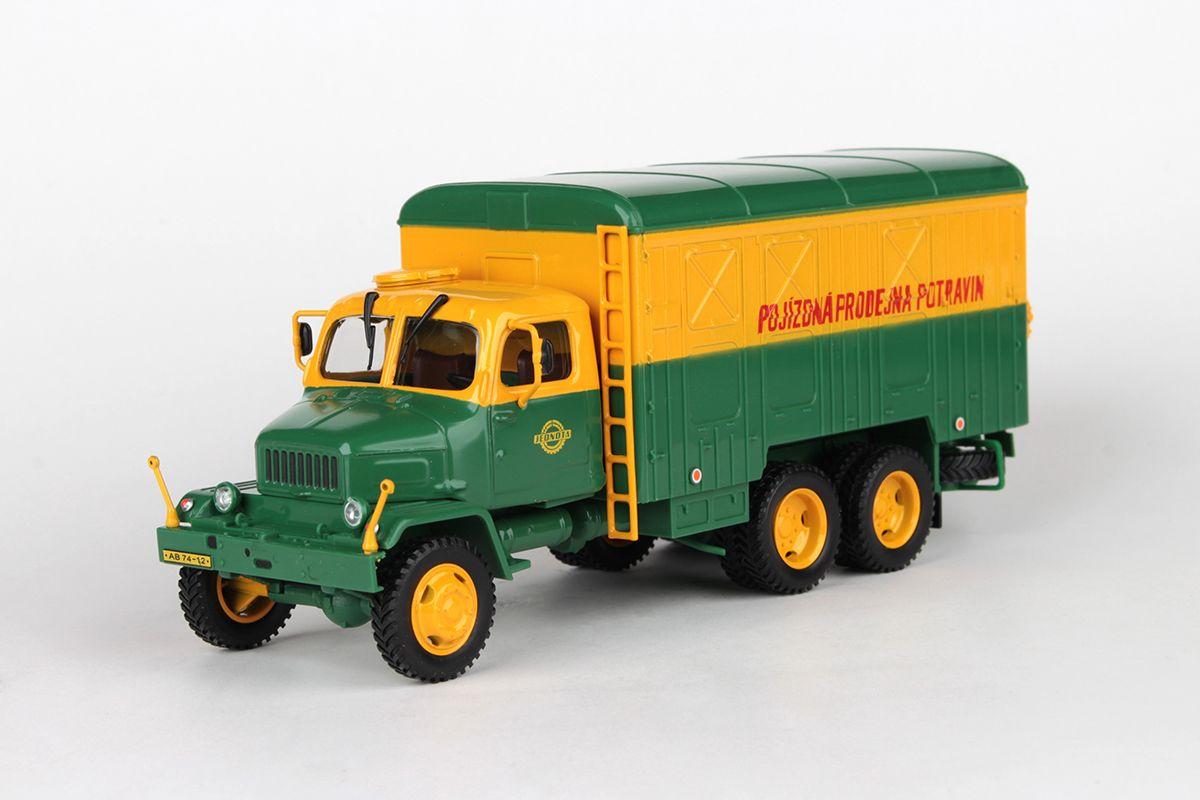 Praga V3S Skříňový Vůz (1967) 1:43 - JEDNOTA - Pojízdná Prodejna Potravin
