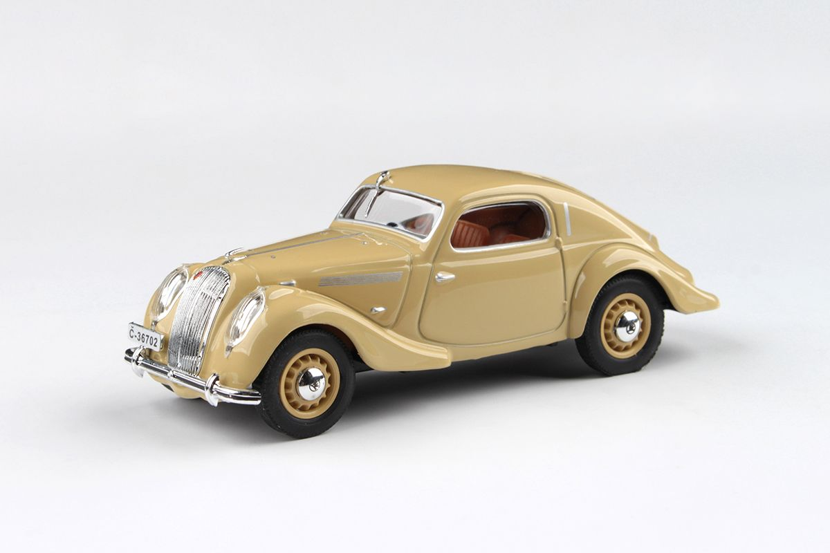 Kovový model Škoda Popular Sport Monte Carlo - pohled zepředu