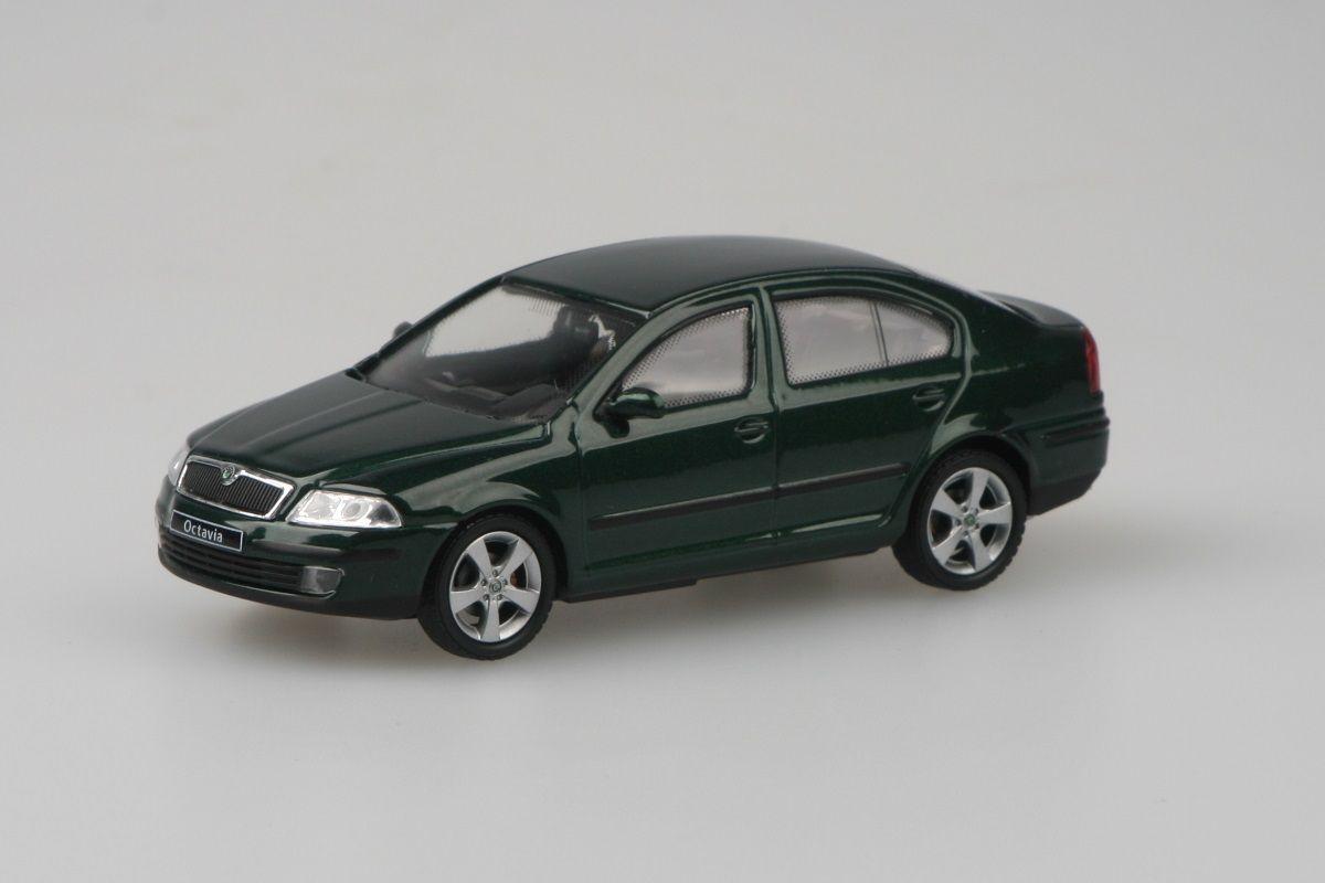 Kovový model Škoda Octavia II - zelená natur metalíza