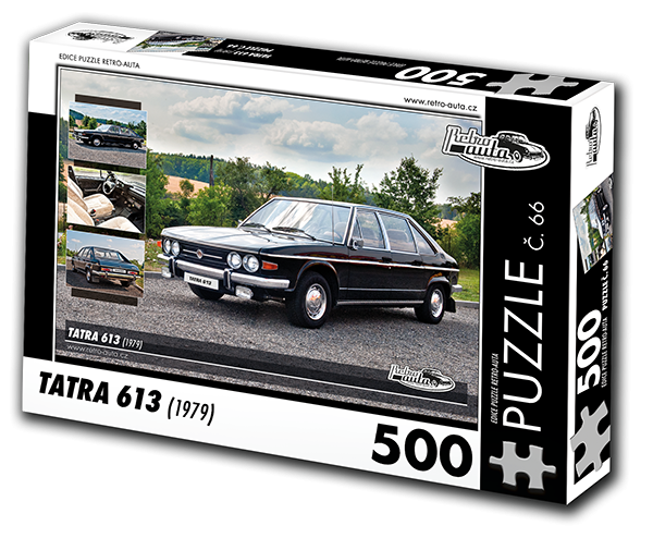 Puzzle s motivem auta Tatra 613 - krabice