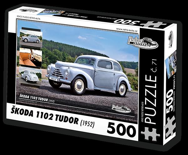 Puzzle č. 71 - Škoda 1102 Tudor (1952) - 500 dílků