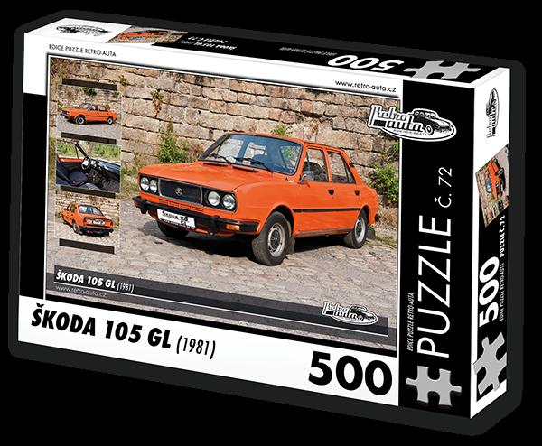 Puzzle č. 72 - Škoda 105 GL (1981) - 500 dílků