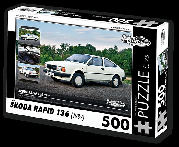 Puzzle č. 75 - Škoda Rapid 136 (1988) - 500 dílků