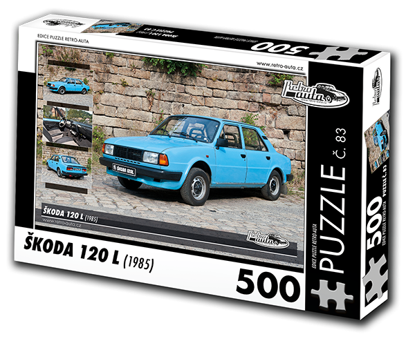 Puzzle č. 83 - Škoda 120 L (1985) - 500 dílků