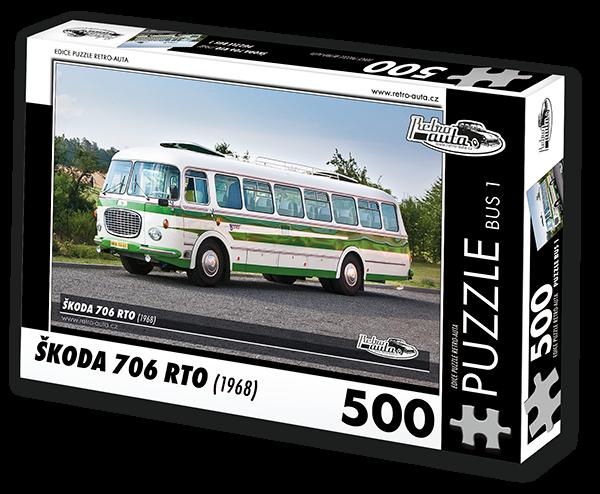 Puzzle č. B05 - Škoda 706 RTO (1968) - 500 dílků