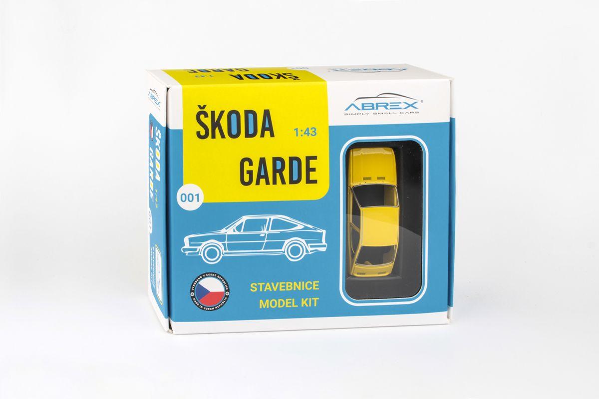 Škoda Garde (1982) 1:43 - Žlutá Sluneční - Stavebnice