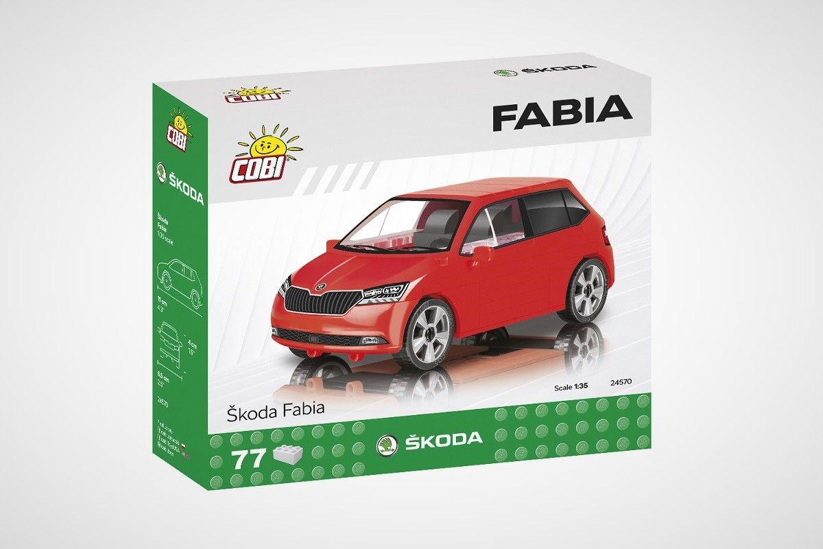 Stavebnice Škoda Fabia III - fotka krabice zepředu