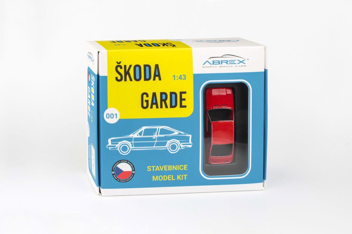 Škoda Garde (1982) 1:43 - Červená Šípková - Stavebnice