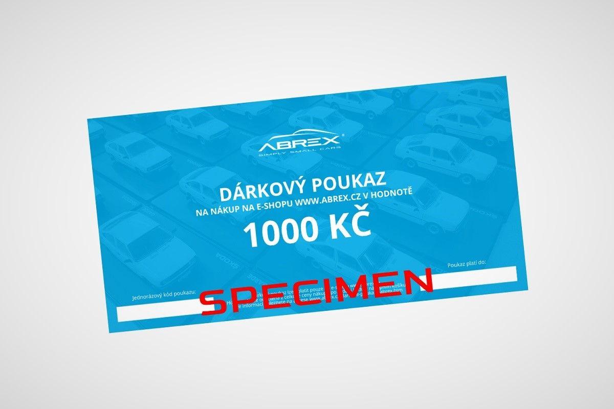 Dárkový poukaz Abrex v hodnotě 1000 Kč