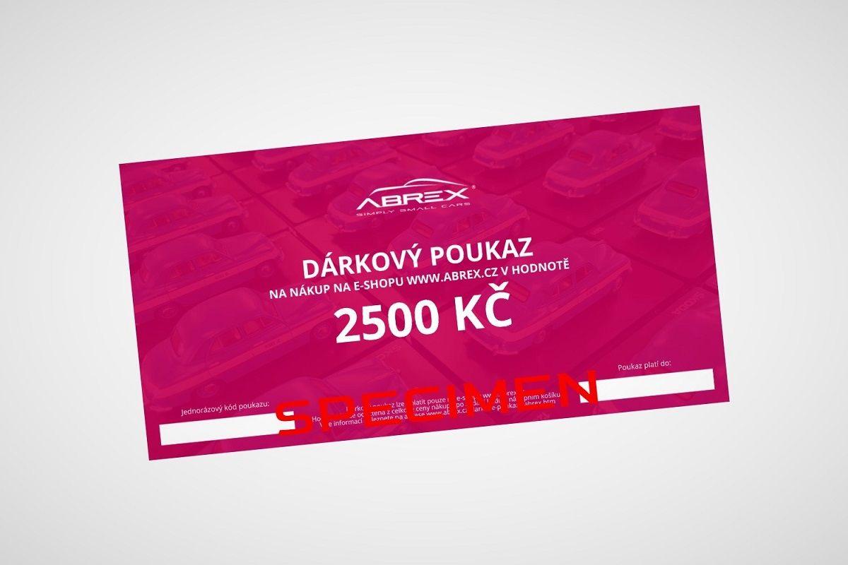 Dárkový poukaz Abrex v hodnotě 2500 Kč