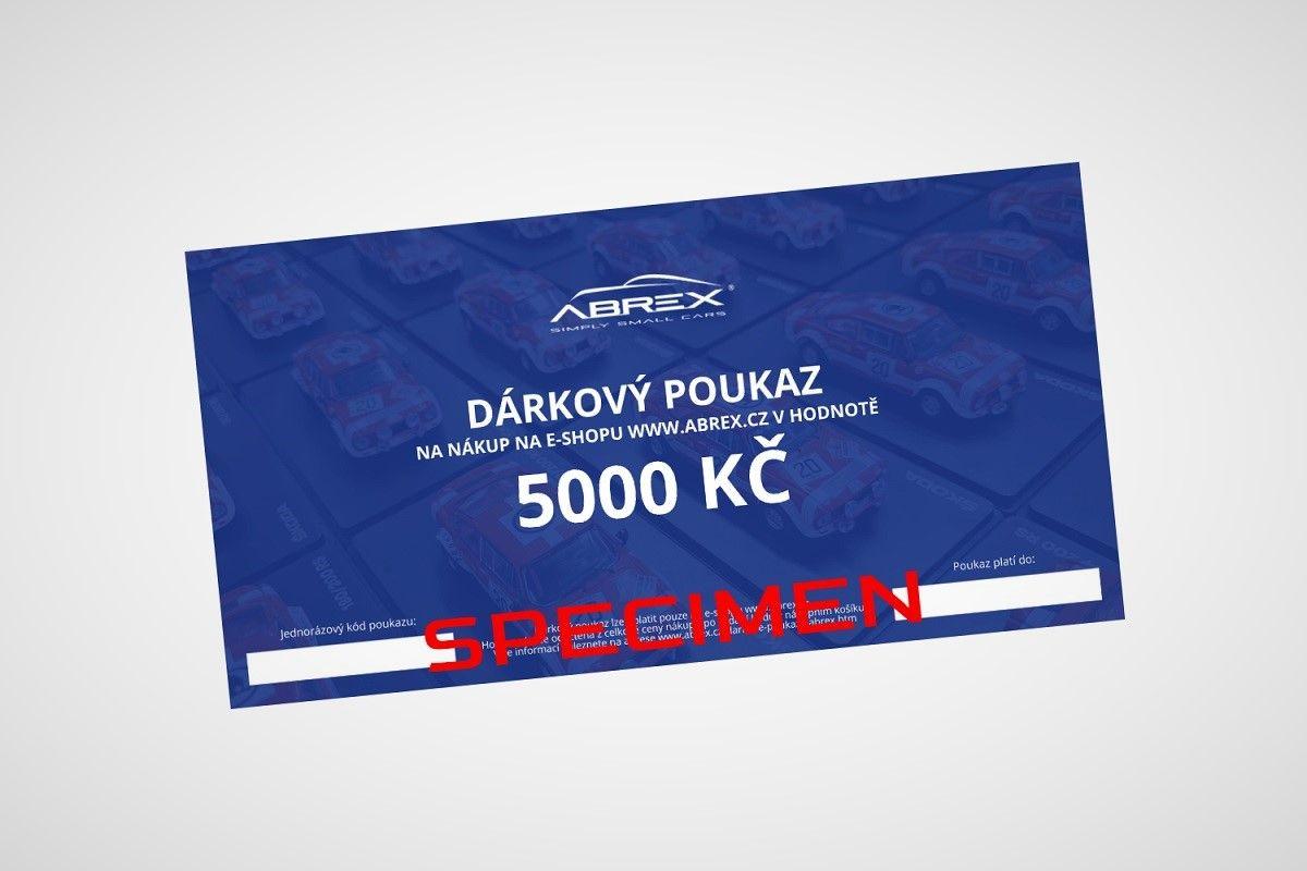 Dárkový poukaz Abrex v hodnotě 5000 Kč
