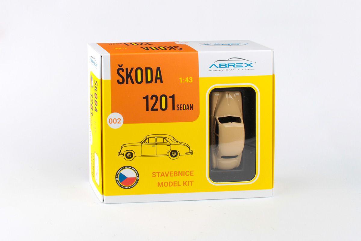Model stavebnice Škoda 1201 - krabice zepředu