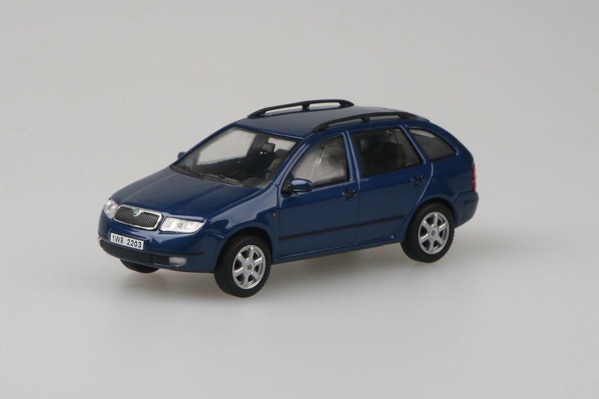 Škoda Fabia Combi (2000) 1:43 - Modrá Hlubinná Metalíza