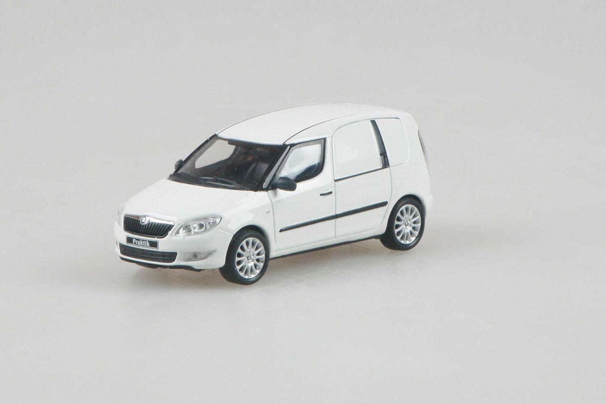 Kovový model Škoda Roomster FL Praktik - bílá candi uni