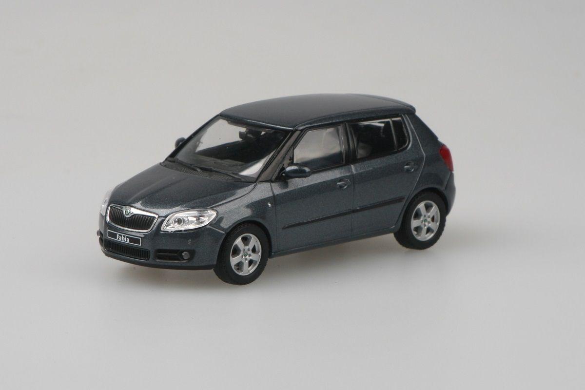 Škoda Fabia II (2006) 1:43 - Šedá Anthracite Metalíza