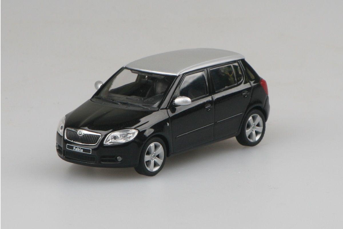 Kovový model Škoda Fabia II - černá magic metalíza