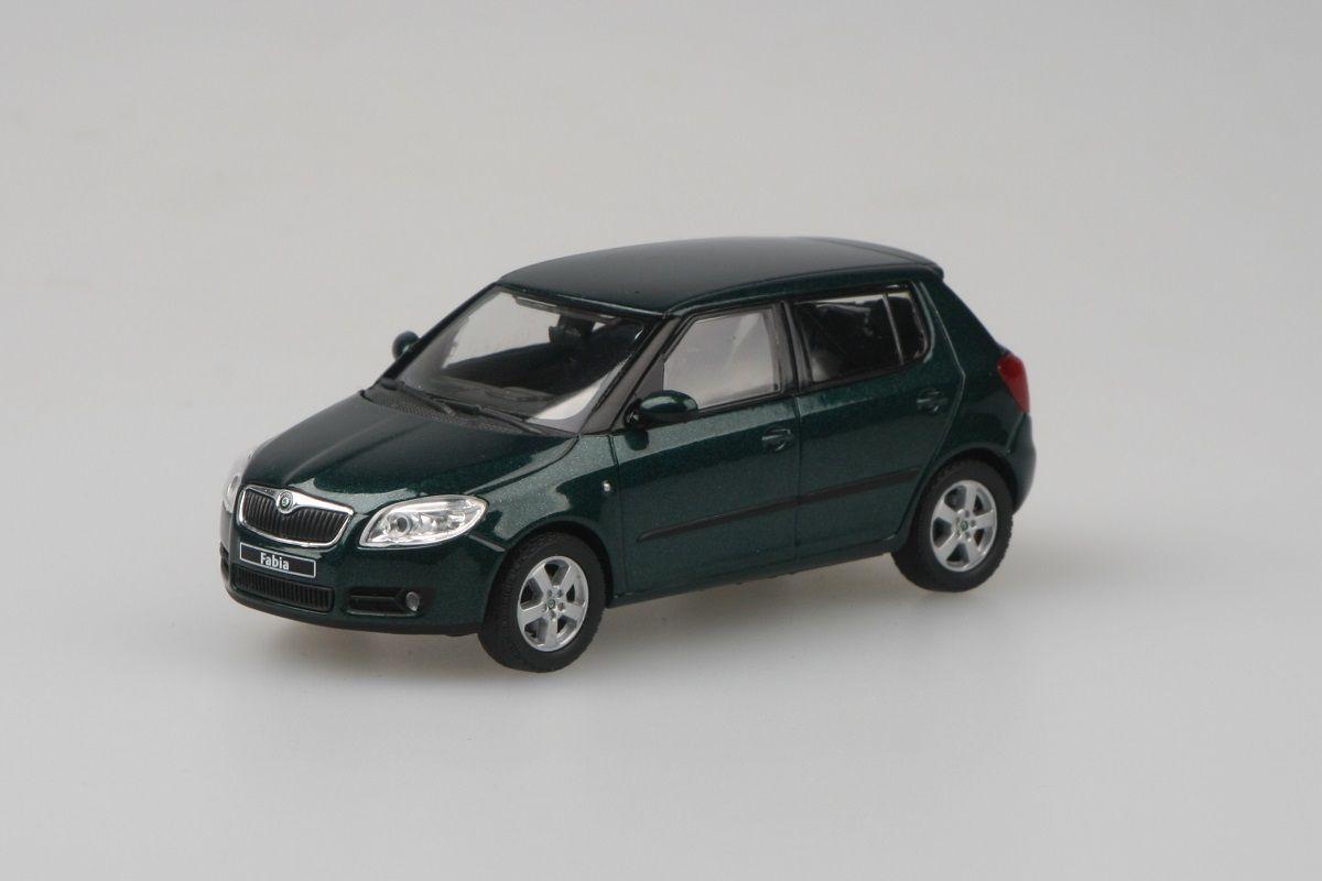Škoda Fabia II (2006) 1:43 - Zelená Amazonian Metalíza