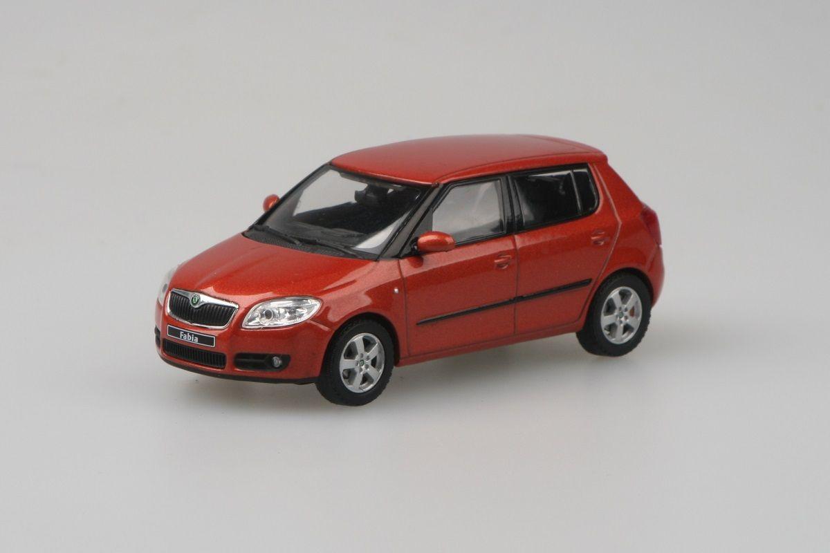 Škoda Fabia II (2006) 1:43 - Oranžová Tangerine Metalíza