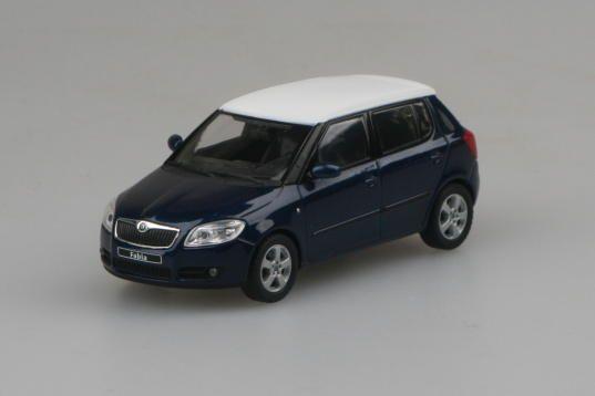 Škoda Fabia II (2006) 1:43 - Modrá Storm Metalíza