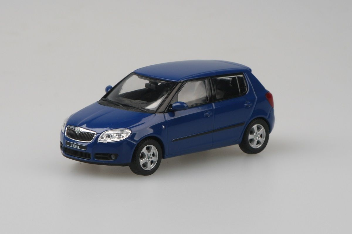 Kovový model Škoda Fabia II - modrá dynamic uni