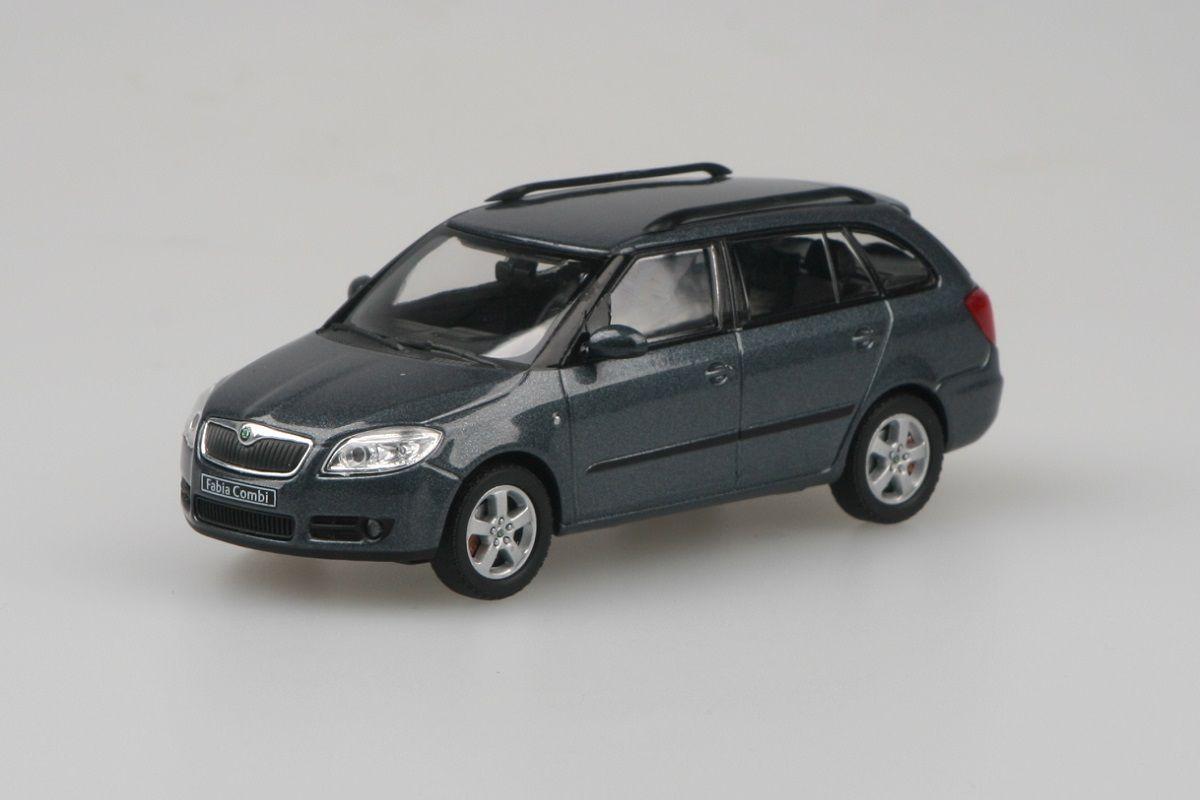 Škoda Fabia II Combi (2007) 1:43 - Šedá Anthracite Metalíza