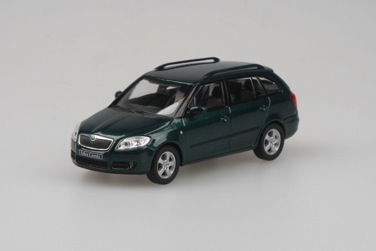 Škoda Fabia II Combi (2007) 1:43 - Zelená Amazonian Metalíza