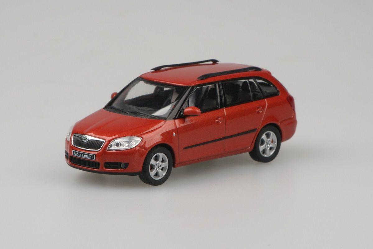 Škoda Fabia II Combi (2007) 1:43 - Oranžová Tangerine Metalíza