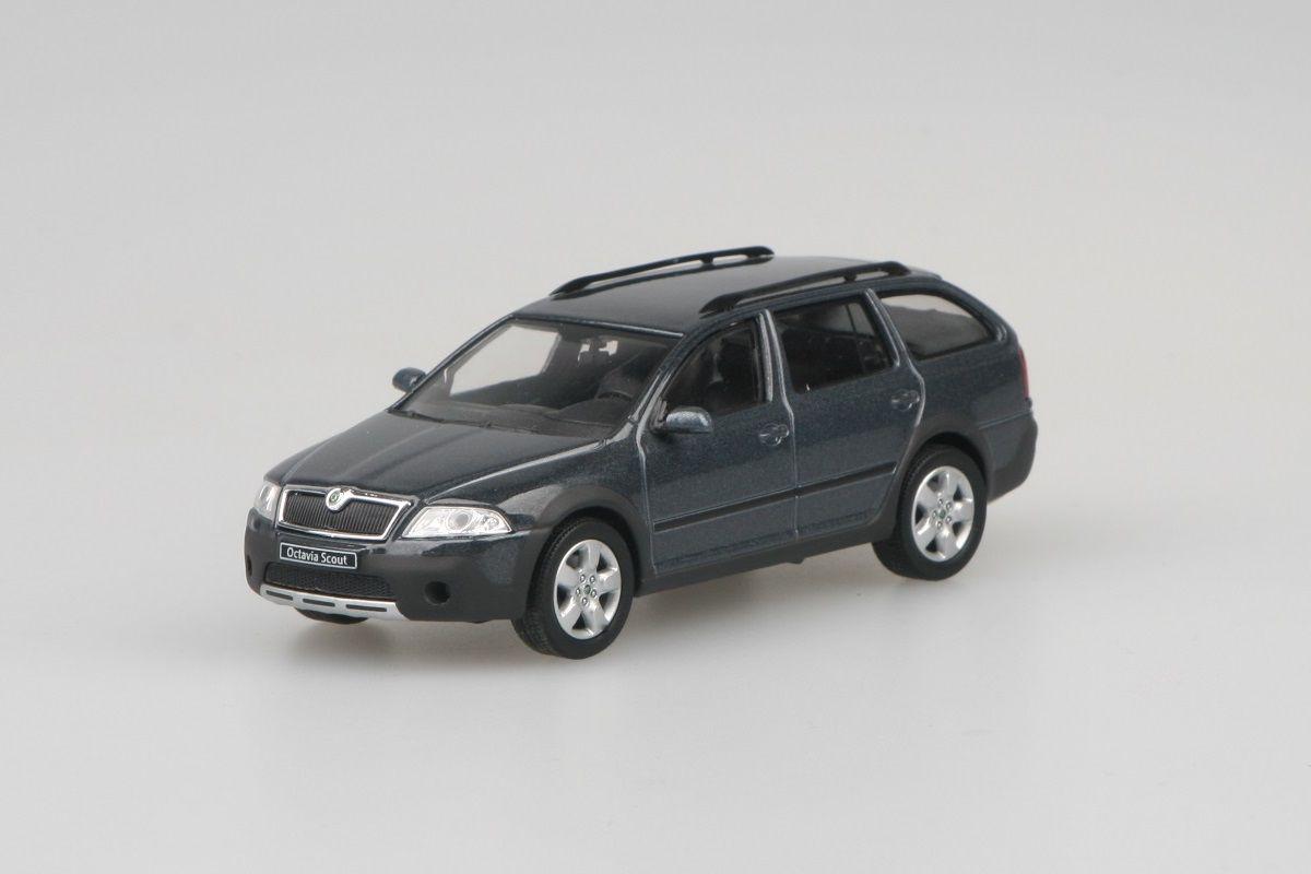 Škoda Octavia II Combi Scout (2007) 1:43 - Šedá Anthracite Metalíza