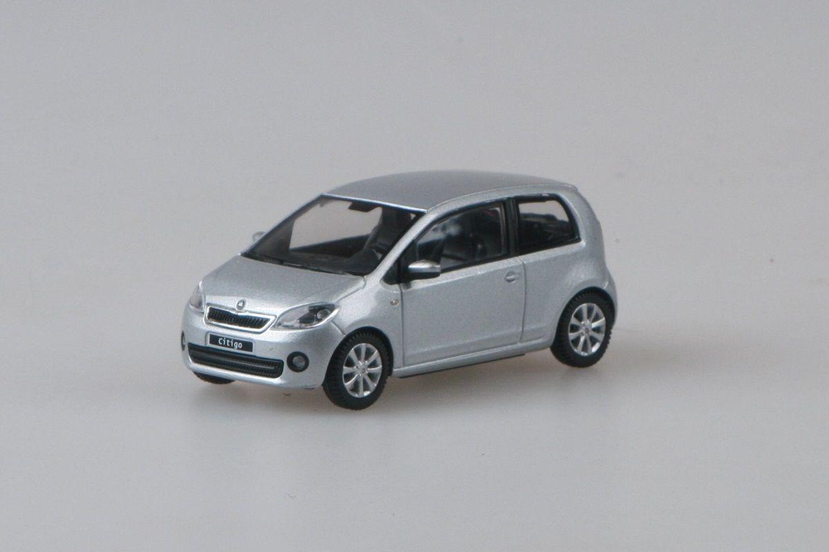 Kovový model Škoda Citigo - stříbrná brilliant metalíza
