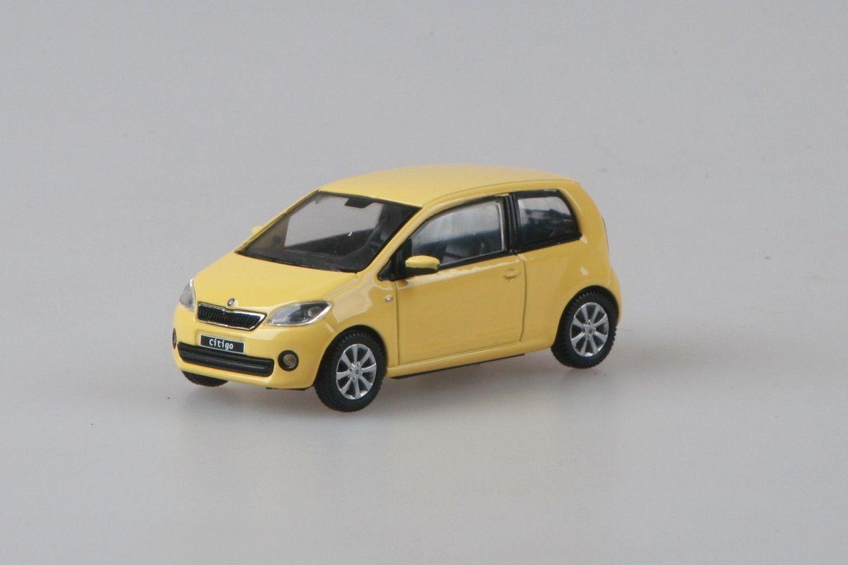 Kovový model Škoda Citigo - žlutá sunflower