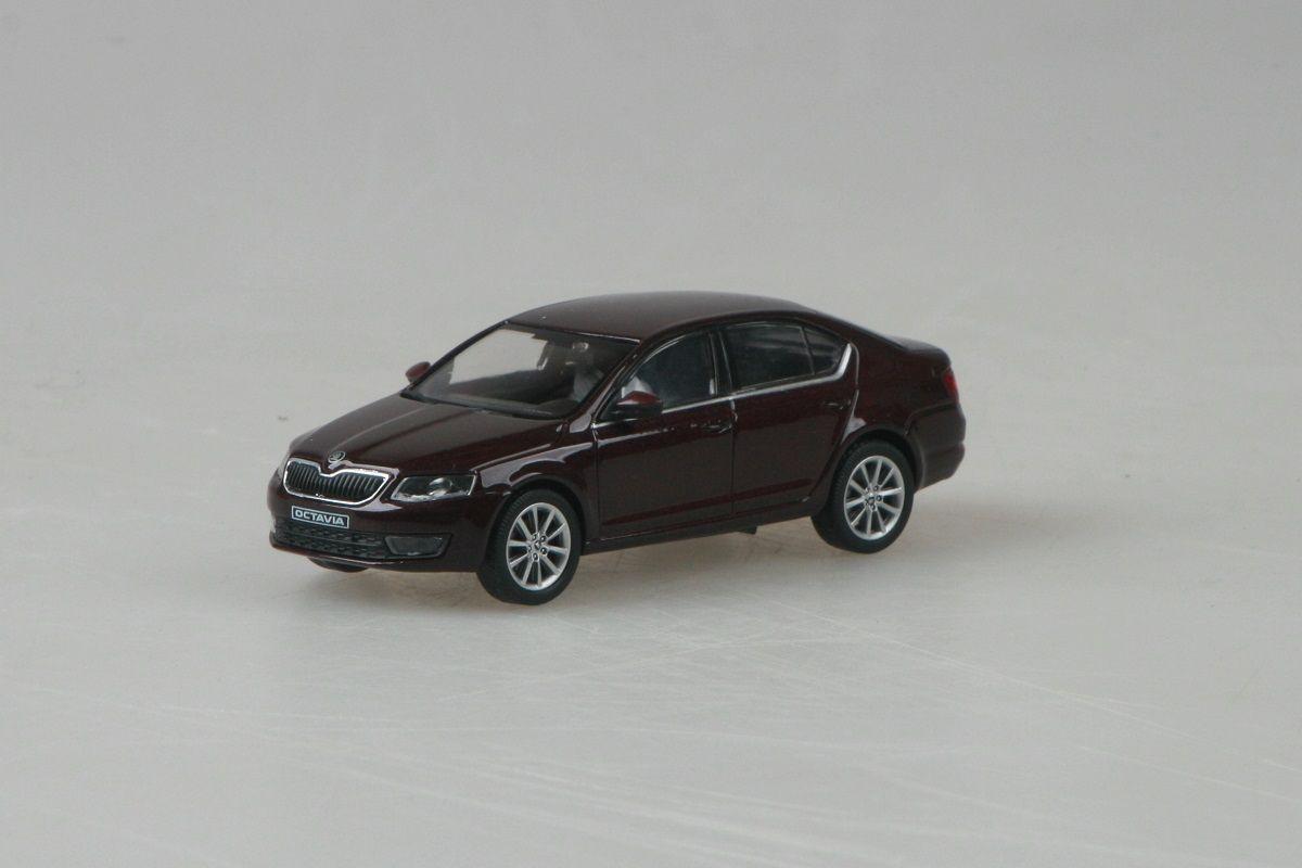 Kovový model auta Škoda Octavia III - rosso brunello metalíza