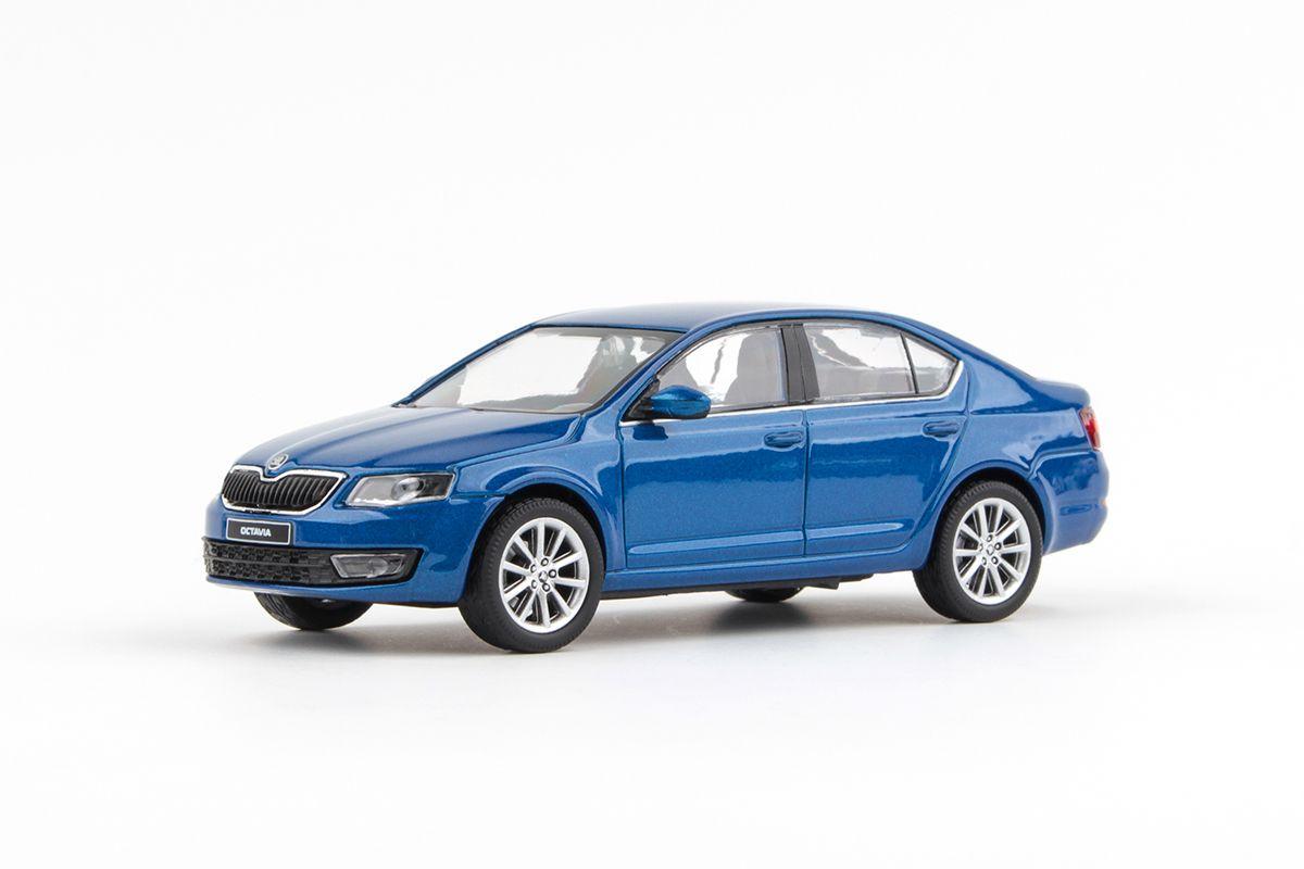 Škoda Octavia III (2012) 1:43 - Modrá Race Metalíza