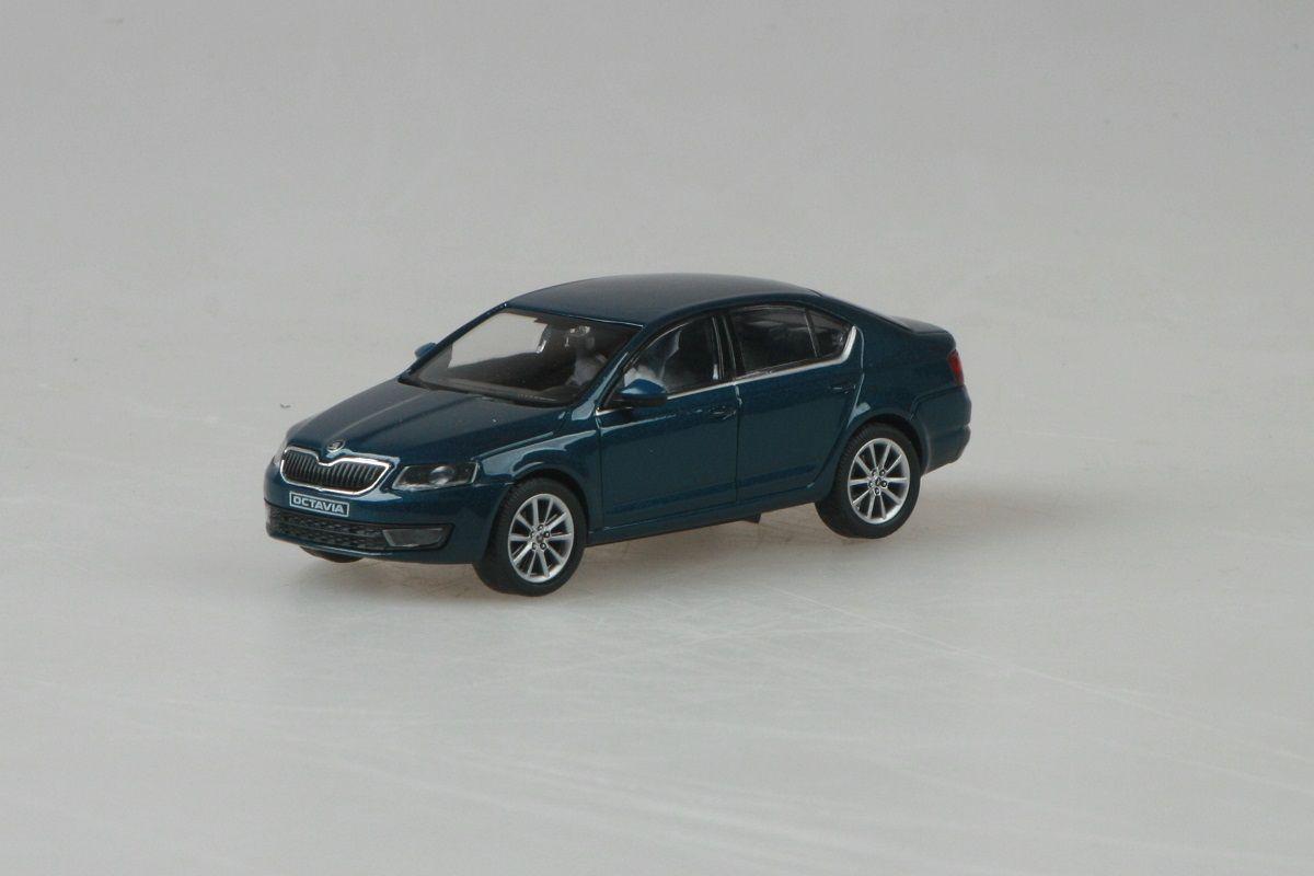 Kovový model Škoda Octavia III - modrá lava metaliza