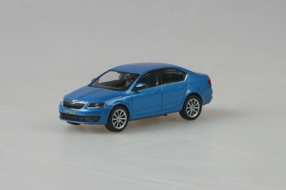 Kovový model Škoda Octavia III - modrá denim metaliza