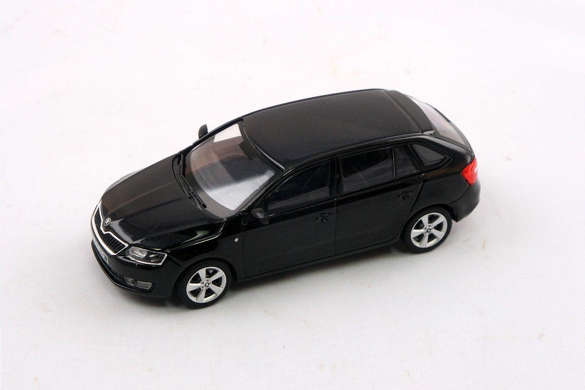 Kovový model Škoda Rapid Spaceback - černá magic metalíza