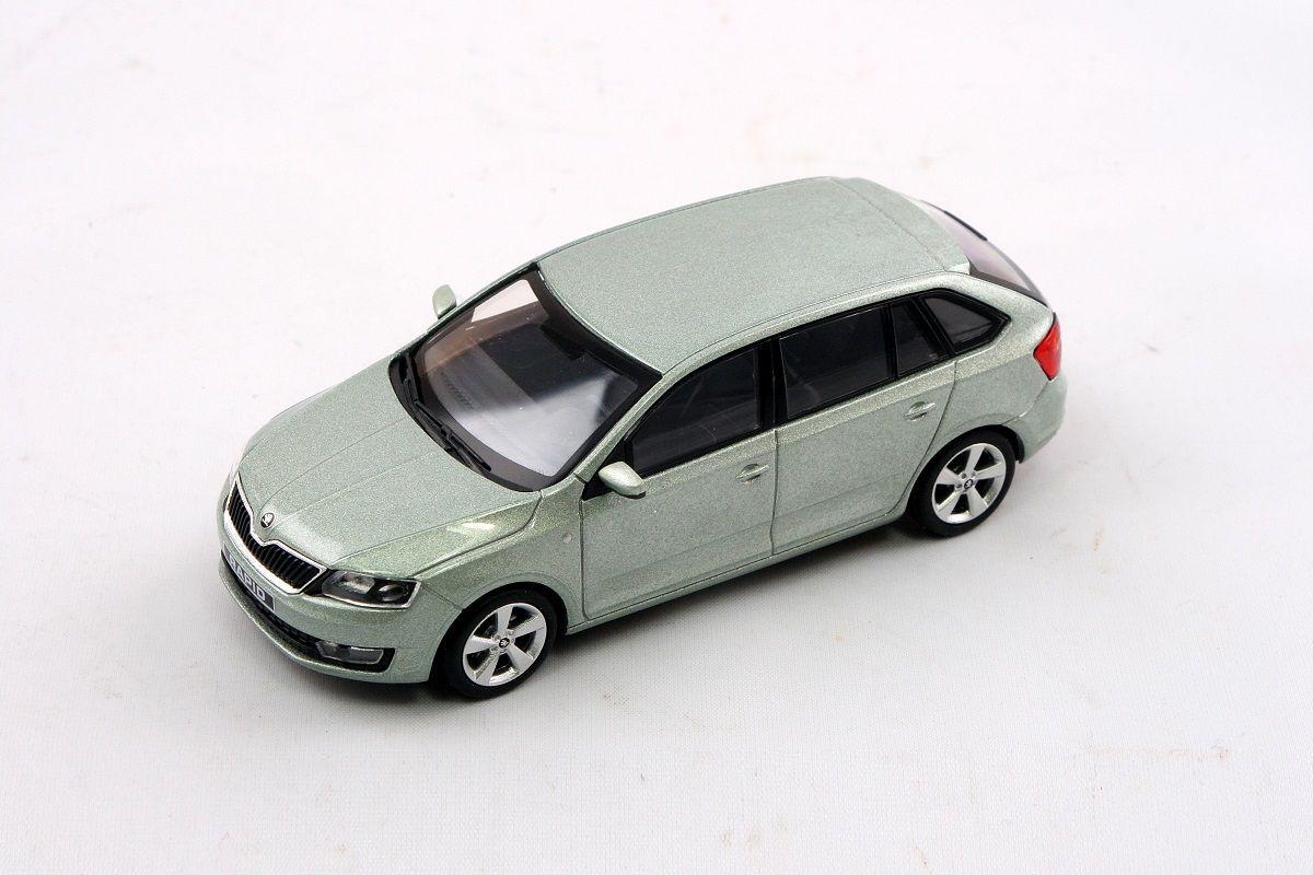Kovový model Škoda Rapid Spaceback - zelená arctic metalíza