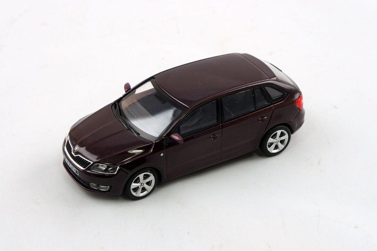 Kovový model Škoda Rapid Spaceback - rosso brunello metalíza