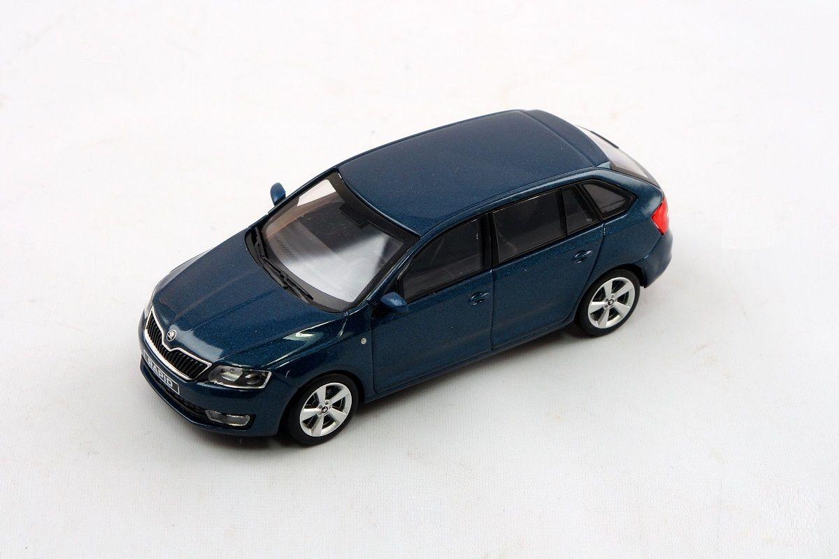 Kovový model Škoda Rapid Spaceback - modrá lava metalíza
