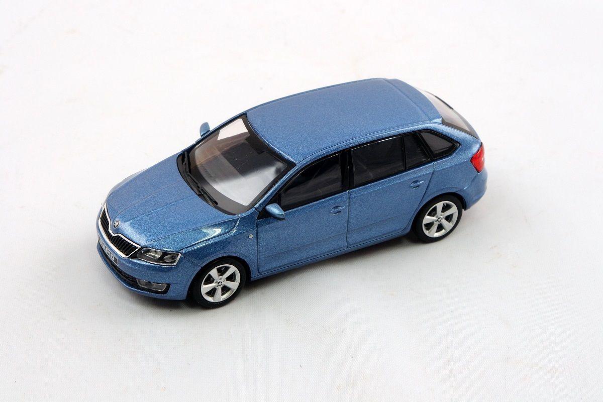 Škoda Rapid Spaceback (2013) 1:43 - Modrá Denim Metalíza