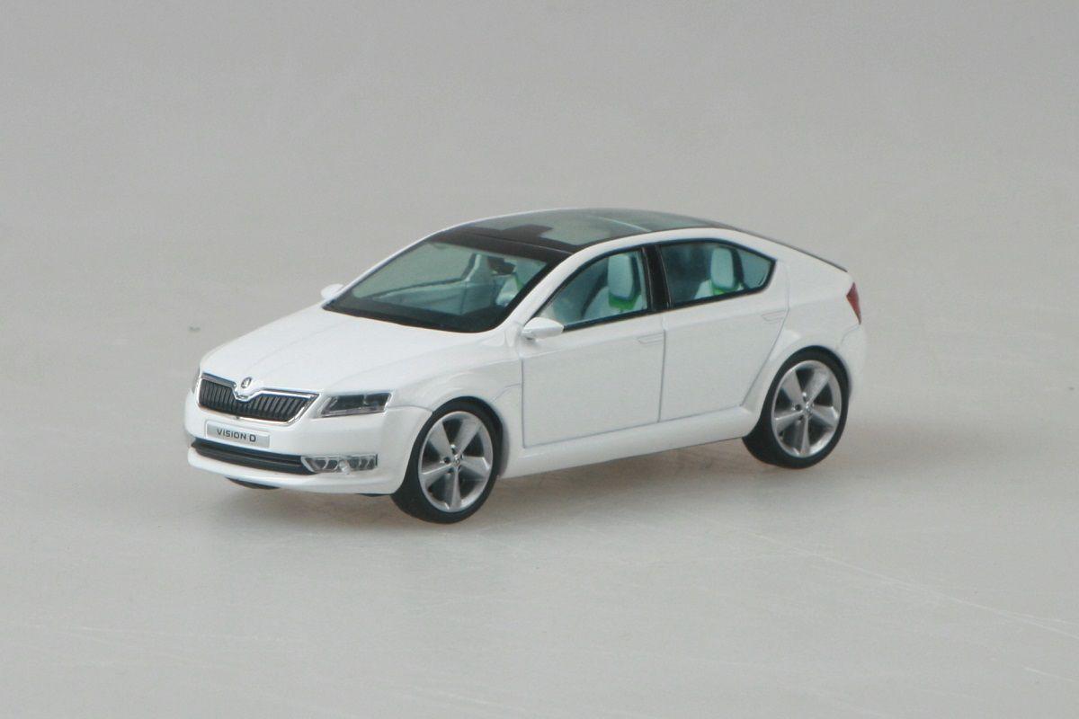 Škoda Vision D Concept (2011) 1:43 - Bílá Candi Uni