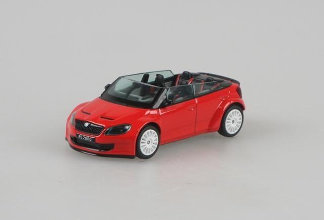 Škoda Fabia II FL RS2000 Concept (2011) 1:43 - Červená