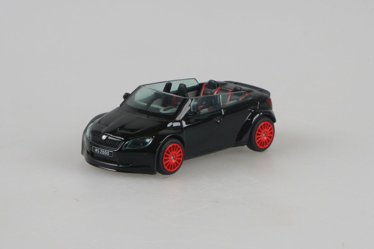 Kovový model Škoda Fabia II FL RS2000 Concept - černá