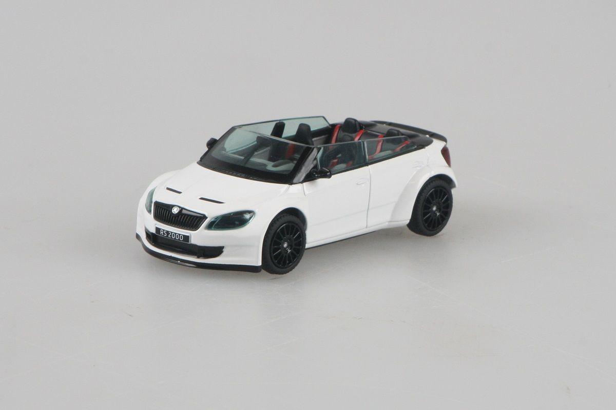 Kovový model Škoda Fabia II FL RS2000 Concept - bílá