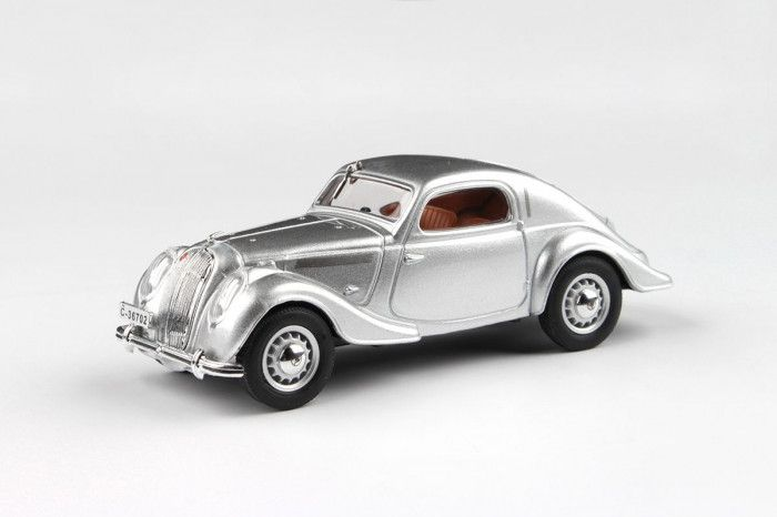 Kovový model Škoda Popular Sport Monte Carlo - Stříbrná metalíza