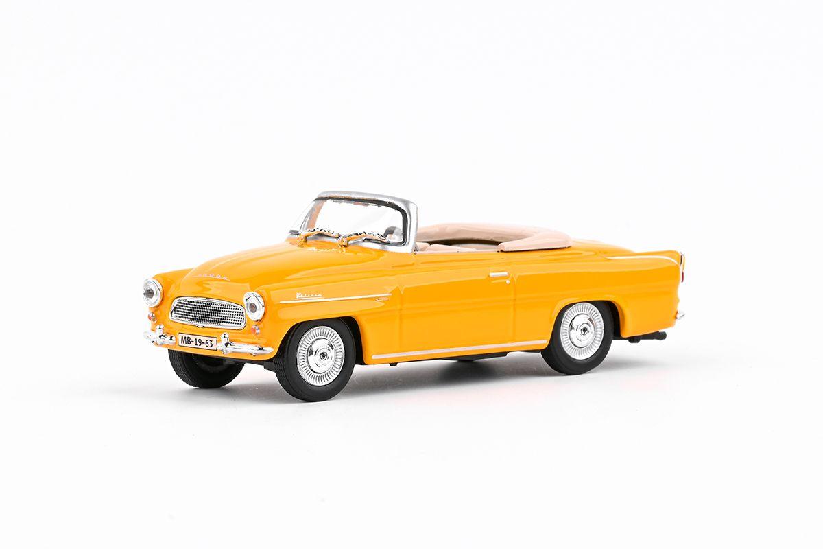Kovový model Škoda Felicia Roadster - žlutooranžová