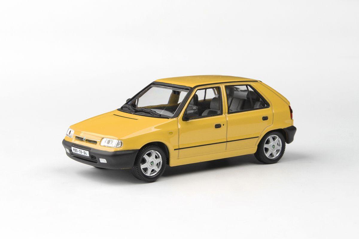 Kovový model Škoda Felicia - Žlutá Pastelová