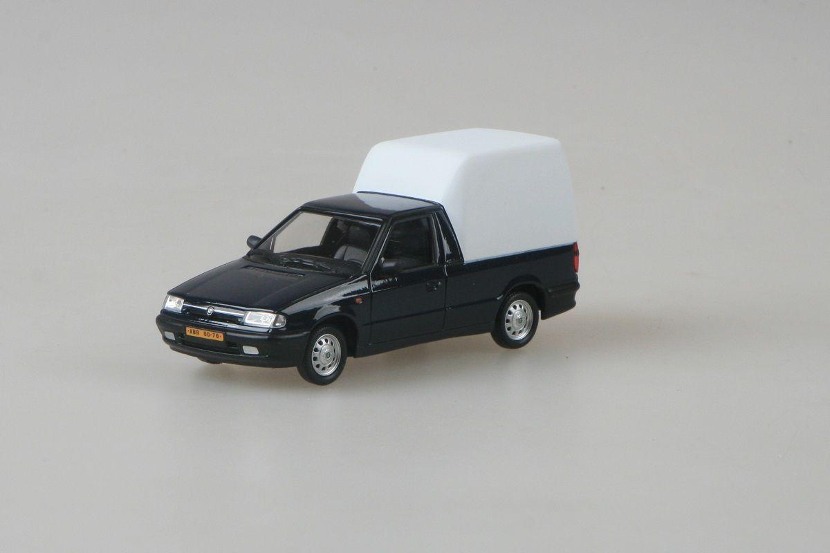 Kovový model Škoda Felicia Pickup - modrá královská