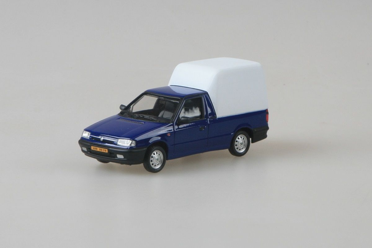 Kovový model Škoda Felicia Pickup - modrá iris