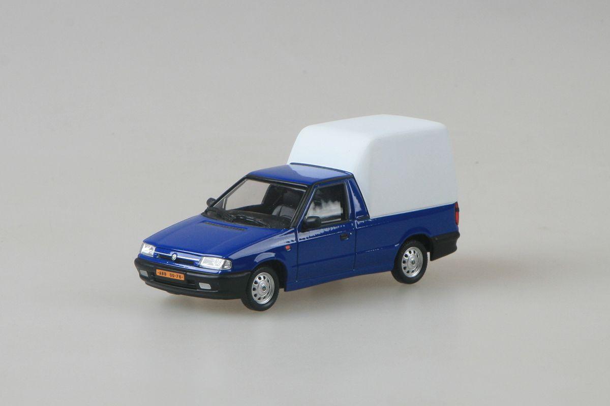 Kovový model Škoda Felicia Pickup - pohled zepředu
